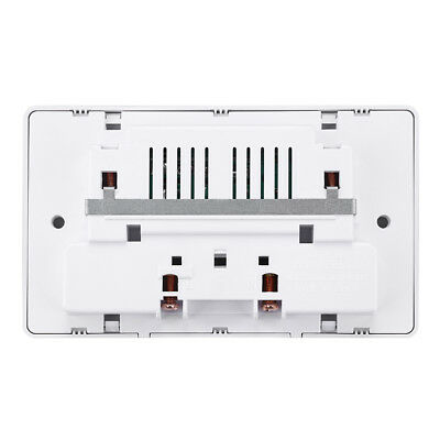 Double Wall Plug Socket 2 Gang 13A with 3 USB Ports Screwless Slim Flat Plate 12
