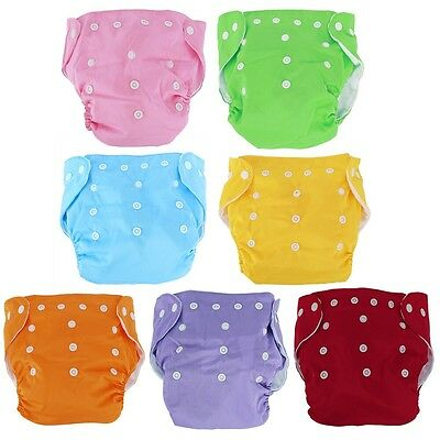 New 10pcs+10 INSERTS Adjustable Reusable Lot Baby Washable Cloth Diaper Nappies 2