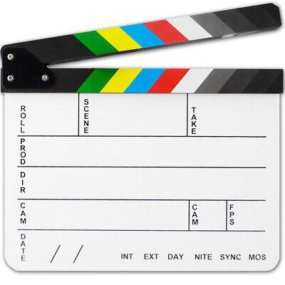 Utility Acrylic Dry Erase Film Clapboard Video Scene Movie Clapper Board Slate 4