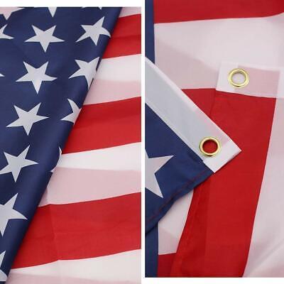 3x5 ft US American Flag Heavy Duty Nylon Print Stars Sewn Stripes Grommets 2
