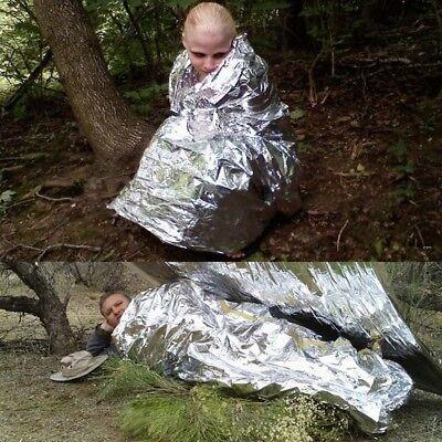 Outdoor Survival Emergency Mylar Waterproof Sleeping Bag Foil Thermal Blanket 4