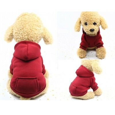 Pet Dog Cat Puppy Sweater Hoodie Coat For Small Pet Dog Warm Costume Apparel HOT 7