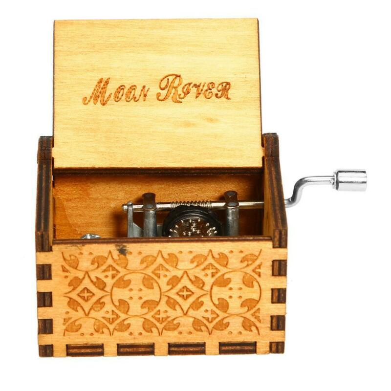 Retro Vintage Wooden Hand Cranked Music Box Home/Shop Crafts Decor Kids Gifts #s 12