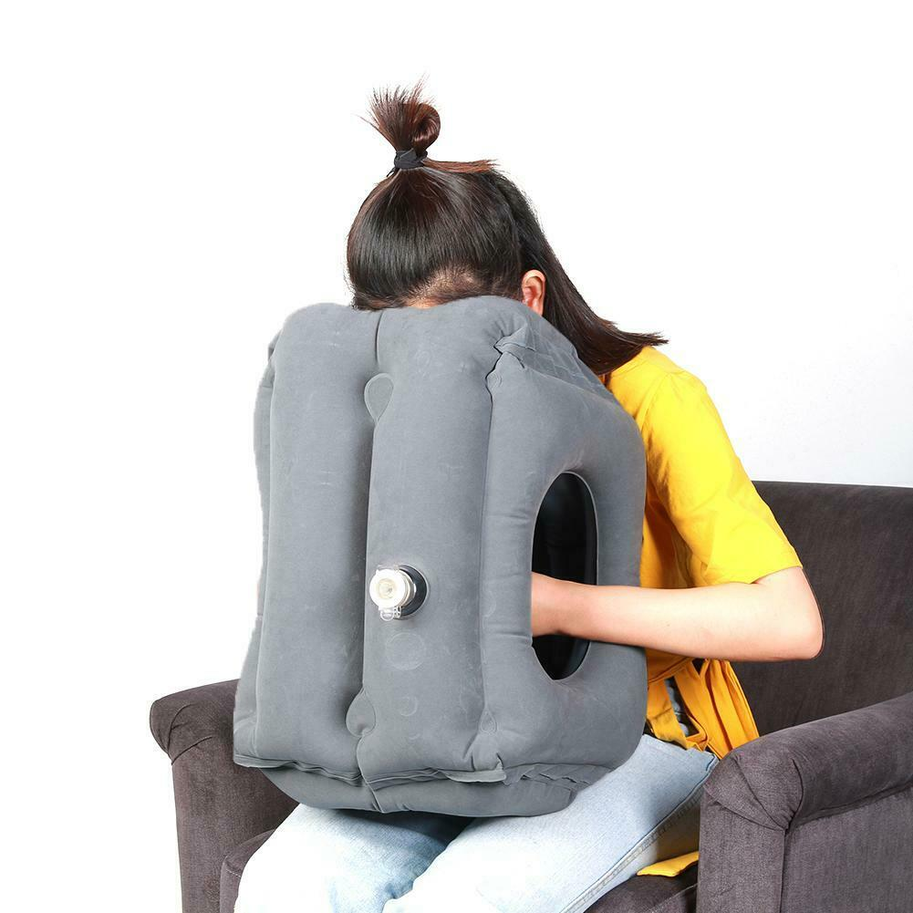 Inflatable Air Travel Pillow Cushion Neck flight Comfortable Support Nap lot US 11