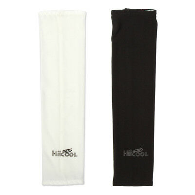 2Pairs UV Sun Protection Compression Cooling Sports Arm Sleeves Warmer Covers 10