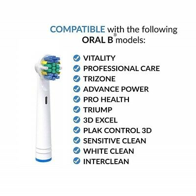 Electric Toothbrush Heads Compatible With Oral B Braun Toothbrush Head Models 2