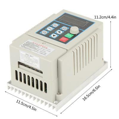 0.45kW VFD 2.5A AC 220V Single/3-Phase Speed Variable Frequency Drive Inverter 3