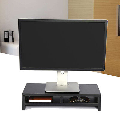Desktop Monitor Stand Shelf Plinth TV LCD Laptop Computer Screen Riser Hot Sale