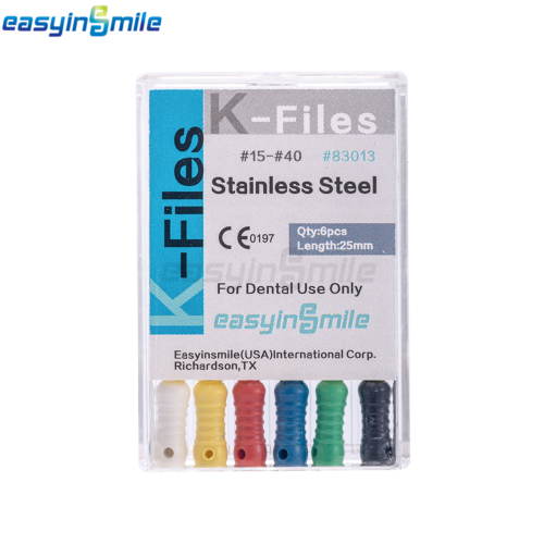 10XDental Endo Root Canal File K-FILES Stainless Steel Hand Use 25mm EASYISNMILE 7
