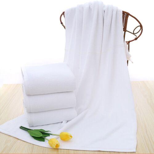 "Soft 70*140cm Luxury Hotel Spa Bath Towel Warmer Cotton White Towels#"" 8"