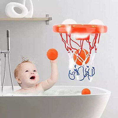 1 Set Bath Toy Basketball Hoop Suction Cup Mini Gift for Baby Kids Toddlers Bath 7