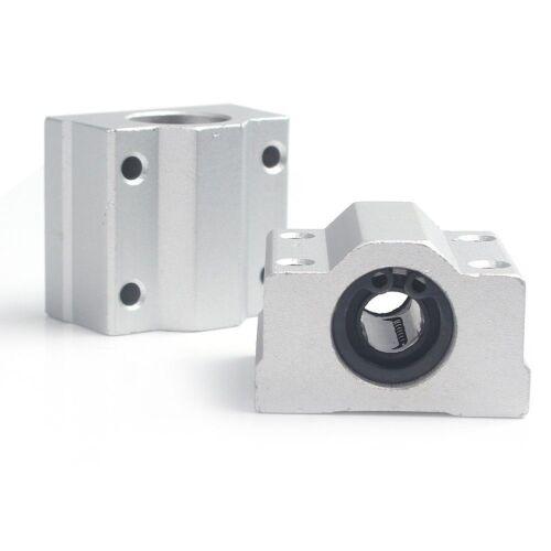 New 2pcs SC8UU 8mm Linear Motion Ball Bearing Slide Bushing Block Great