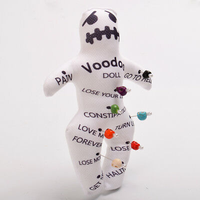 Authentic Voodoo New Orleans Doll With 7 color Skull Pins 5