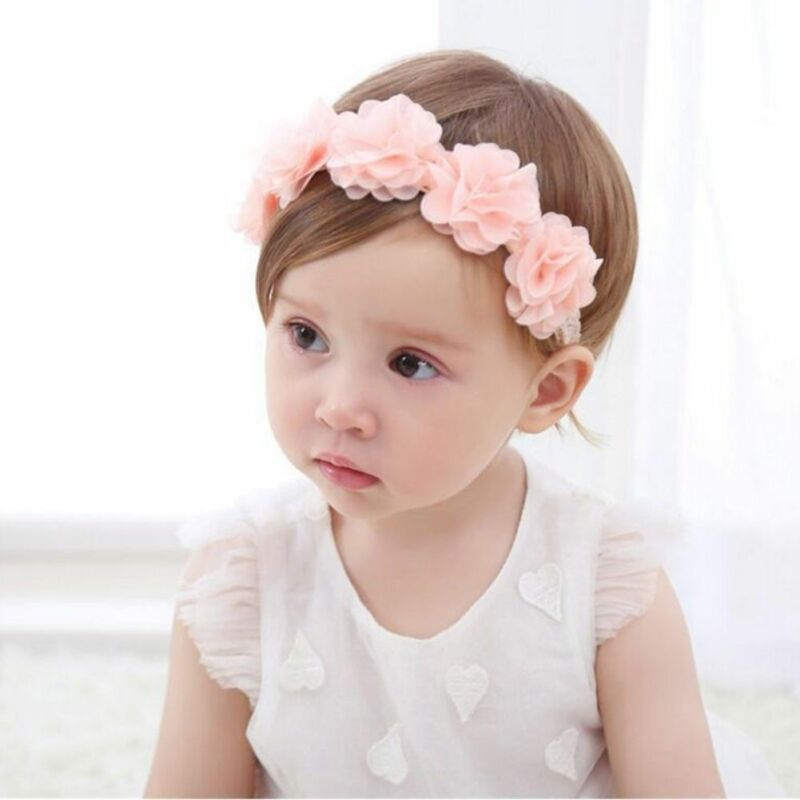 Cute Lace Flower Kids Baby Girl Toddler Headband Hair Band Headwear Accessories 4