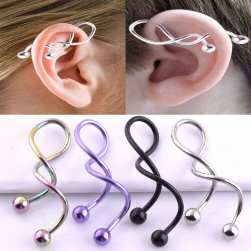 14g Surgical Steel Industrial Barbell Earring Cartilage Piercing