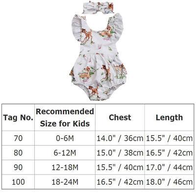 b5b02994f83 ... NEW Disney Bambi Baby Girls White Ruffle Romper Bodysuit   Headband  Outfit Set 6
