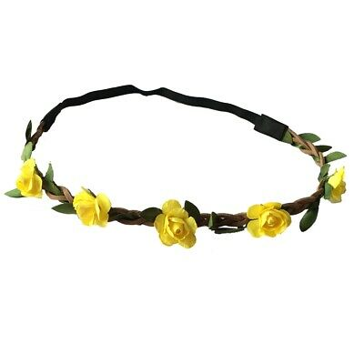 Rose Garland Haarband Haarschmuck geflochten Blumen Party Stirnband Hochzeit