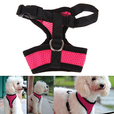 Soft Mesh Pet Harness Pet Control Walk Collar Safety Strap Dog Cat Vest CA RR 9