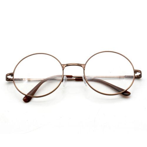 5dfe17c657 Women Men Large Oversized Metal Frame Clear Lens Round Circle Eye Glasses  Nerd 4 4 of 10 ...