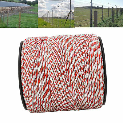 2000M Polywire Roll Electric Fence Energiser Stainless Steel Poly Wire 4