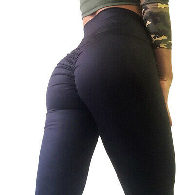Womens Sports Scrunch Butt Lift Push Up Ladies Running Gym Leggings Yoga Pants 3