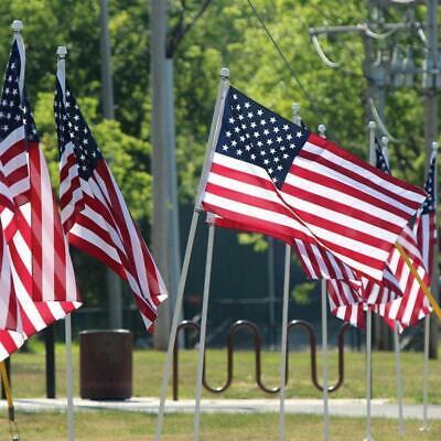 3x5 ft US American Flag Heavy Duty Nylon Print Stars Sewn Stripes Grommets 6
