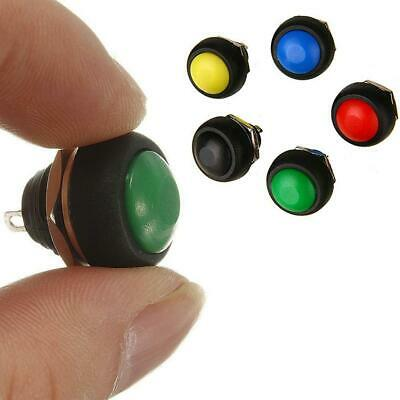 5Pcs colored 12mm Waterproof Momentary ON/OFF Push Button Mini Round best 6