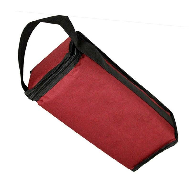 Portable Red Wine Tote Bag 2-Bottle Carrier Insulated Holder Cooler Ice Pack 4
