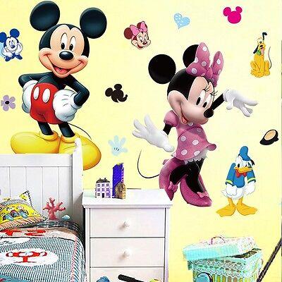 MICKEY MOUSE MINNIE Vinyl Mural Wall Sticker Decals Kids Nursery ...