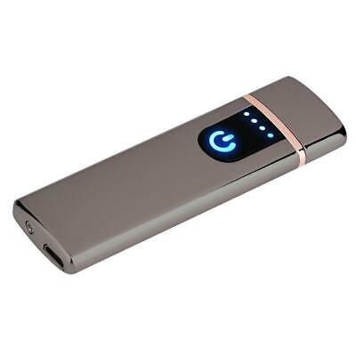 Electric Lighter Usb Rechargable Windproof Flameless Finger Print Gentle Touch 9