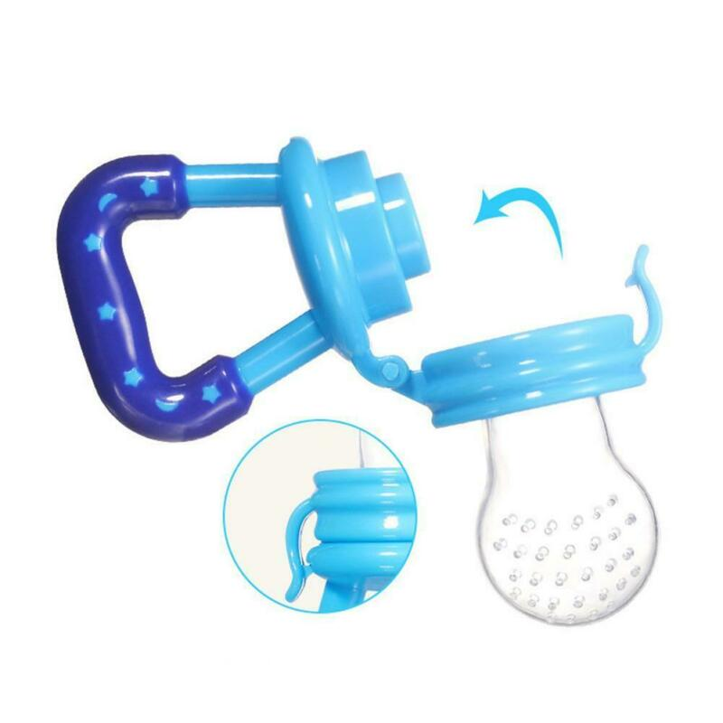 Portable Baby Food Fruit Nipple Feeder Pacifier Safety Soft Silicone Feeding new 5
