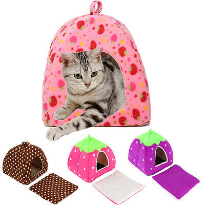 Soft Pet Dog Cat Bed House Kennel Doggy Puppy Warm Cushion Basket Pad Mat S-XL 11