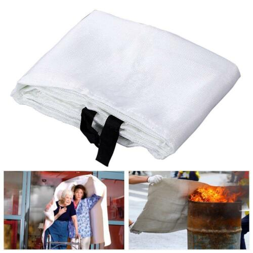 FIRE BLANKET 1M x 1M QUALITY QUICK RELEASE LARGE FULLY APPROVED RED CASE 7