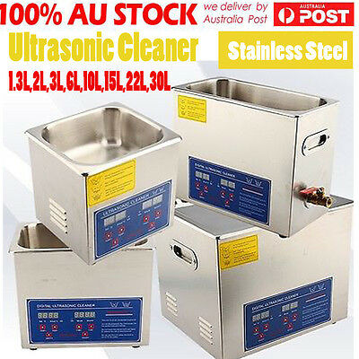 Digital Stainless Ultrasonic Cleaner Ultra Sonic Bath Cleaning Tank Timer Heate 2