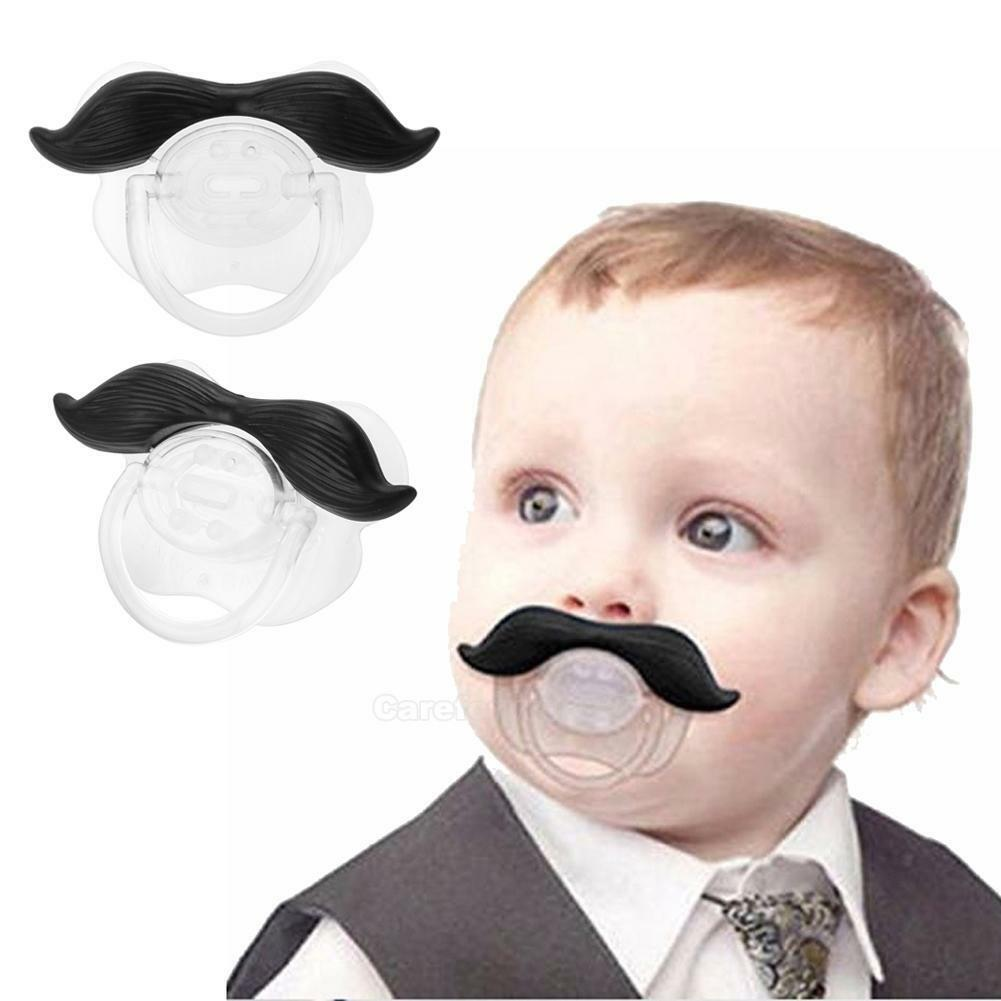 Funny Silicone Infant Pacifier Orthodontic Nipples Dummy Mustache Beard Mouth 2