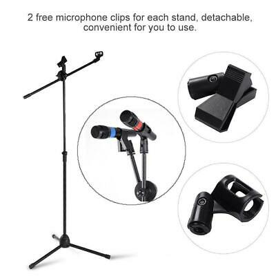 Professional Boom Microphone Mic Stand Holder Adjustable With 2 Free Clips UKGT 5