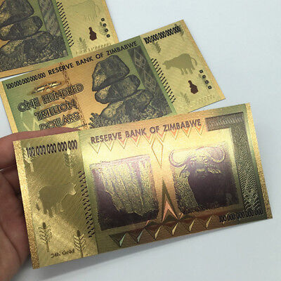100 Trillion Zimbabwean Dollar Commemorative Banknote Non-currency Collection 3