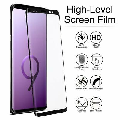 For Samsung Galaxy S9 S8 Plus - FULL COVER 3D Tempered Glass Screen Protector 4