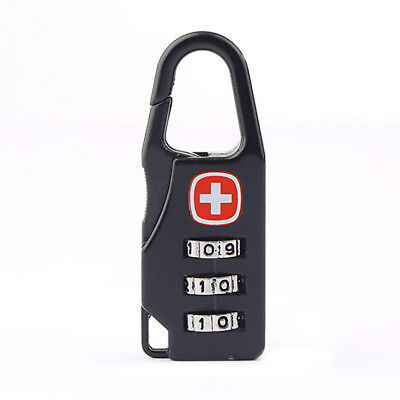 Alloy 3 Dial Safe Number Code Padlock Combination Travel Suitcase Luggage Locks* 2