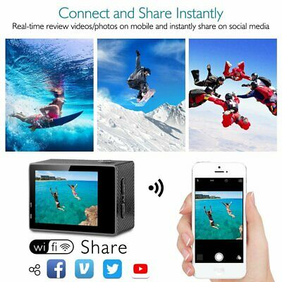 Ultra 4K Full HD 1080P Waterproof Sports Camera Wi-Fi Action Camcorder as Go Pro 7