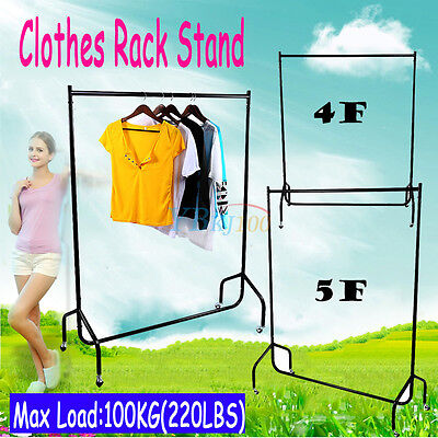 Super Heavy Duty Garment Clothes Rail Metal Garment Hanging Display Stand Rack 7
