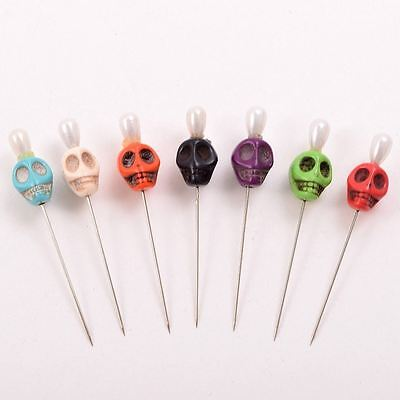 7pcs Gothic Skull Pattern Pins Evil Voodoo Curse Needles Vent Toys for Adults 7
