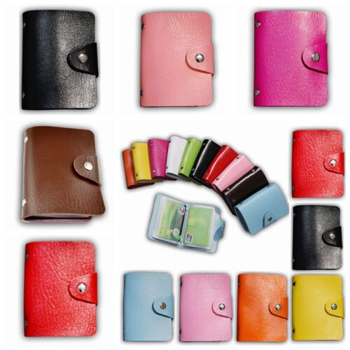 12 Cards PU Leather ID Credit Card Holder Card Wallet ID Mini Unisex New Purses 7