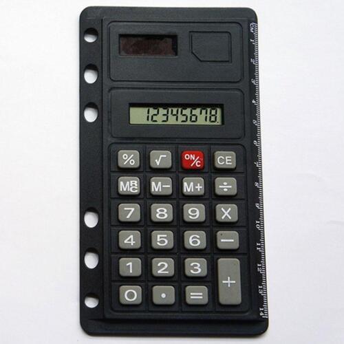abheftbar Rechner Lineal Schulr  DE Tischrechner 12 Ziffern Taschenrechner