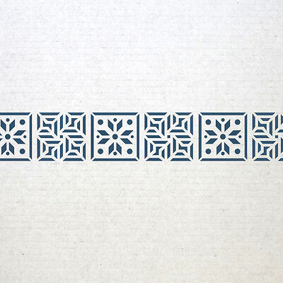 WALL BORDER STENCILS Pattern 019 Reusable Template for DIY wall decor