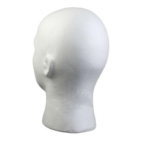 masque 27 9cm perruque cran d 39 affichage m le mousse t te. Black Bedroom Furniture Sets. Home Design Ideas