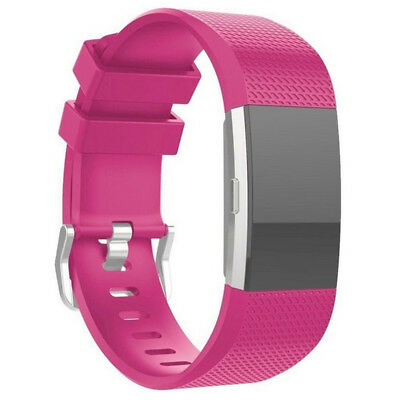 FOR Fitbit CHARGE 2/HR Replacement Silicone Rubber Band Strap Wristband Bracelet 10