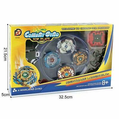 4x Beyblade Burst Arena Metal Set Gyro Fighting Gyroscope Launcher Spinning Toys 2