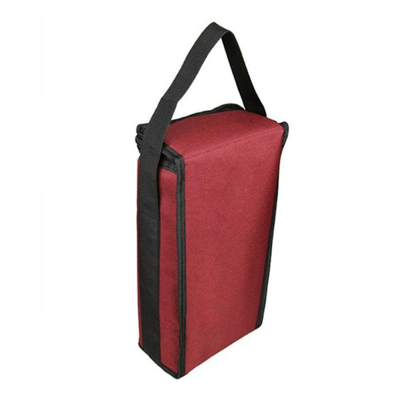 Portable Red Wine Tote Bag 2-Bottle Carrier Insulated Holder Cooler Ice Pack 6