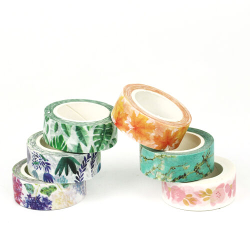 Lot Floral Scenery Galaxy Papers Sticky Adhesive Stickers Scrapbook Washi Tapes